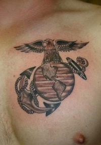 Usmc eagle globe and anchor tattoo